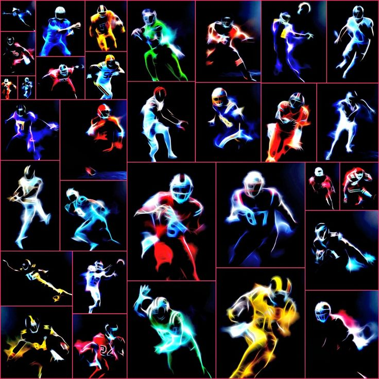 Nike's NFL Color Rush Uniforms Picture Collage.