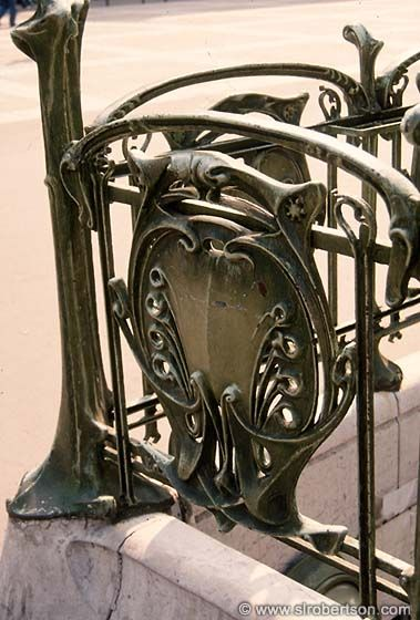 Art Nouveau Railing, Metro Station, Paris