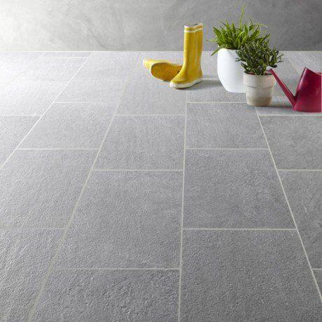 Carrelage gris effet pierre Story l.30 x L.60 cm