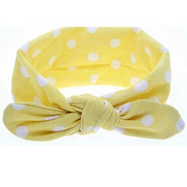 Fashion haarband dotty geel - DE GELE FLAMINGO - 1