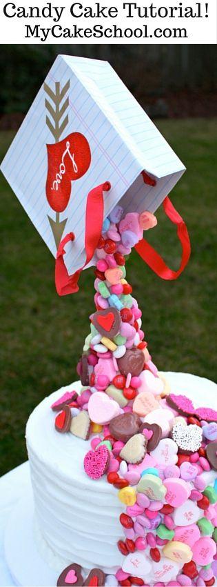 Pouring -Candy- Cake Tutorial!! MyCakeSchool.com {Member Video!}