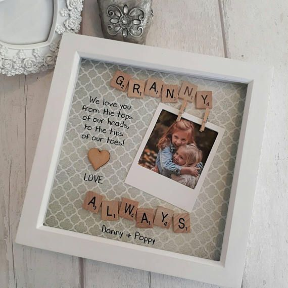 Engraved Photo Frame Nanny Nana Nanna Birthday Gift