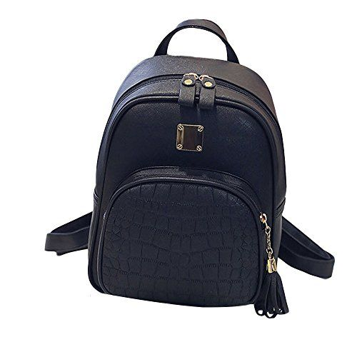341c8f339db4 Wobuoke New Fashion Women Backpacks Tassel Girl School Bag Ladies ...