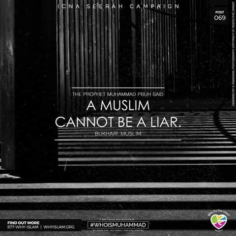 #prophet_muhammad #teachings  A true muslim doesn't lie