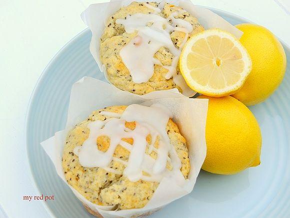 Cytrynowe muffiny z chia i ricotta