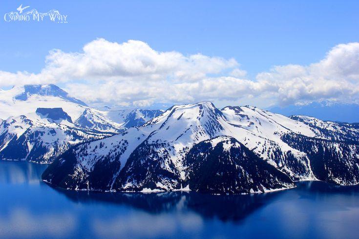 Bright Blue Waters of Garibaldi Lake from Panorama Ridge on a Beautiful Summer Day