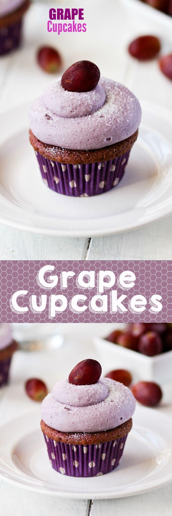 GRAPE CUPCAKES -- so fun for the kids!