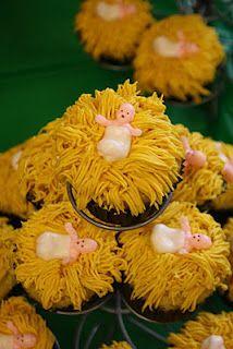 Happy Birthday Baby Jesus cupcakes
