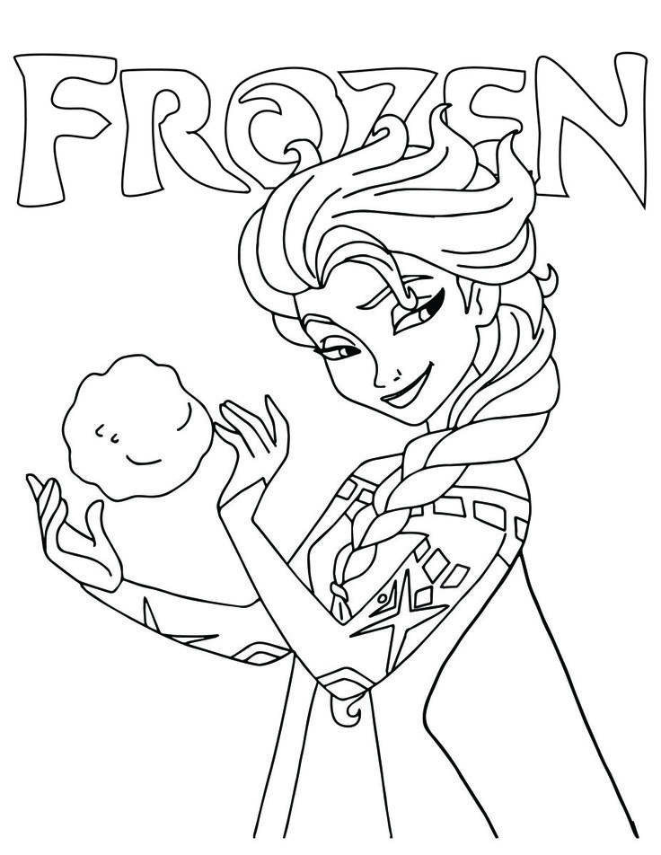 64 best coloriages de disney gratuit free disney - Coloriage de frozen ...