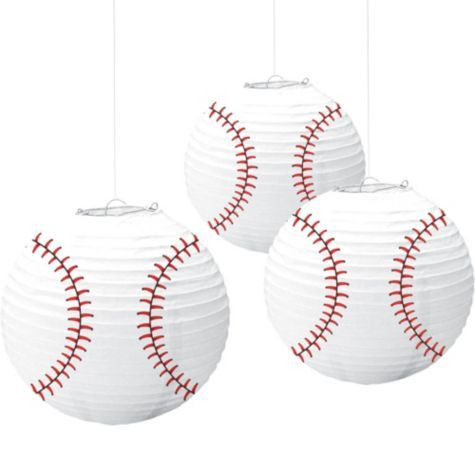 hang above the dessert table....I think the table should be all baseball......easier to decorate....