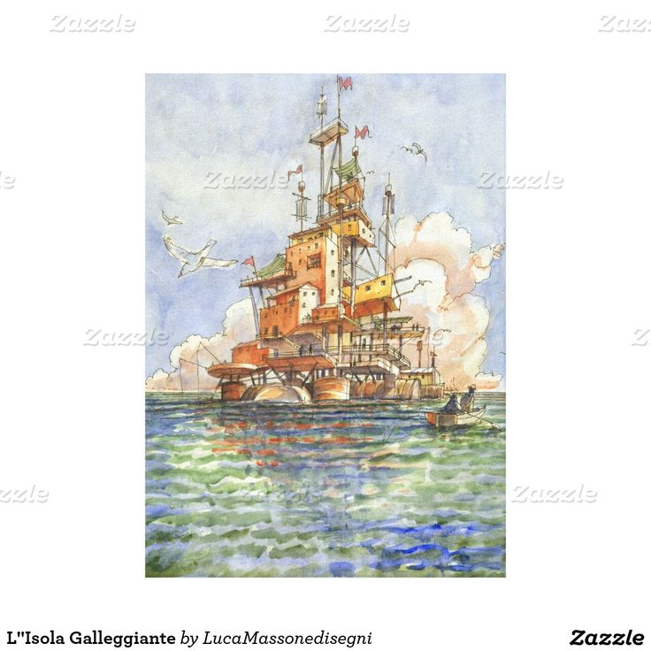 L''Isola Galleggiante Gallery Wrap Canvas