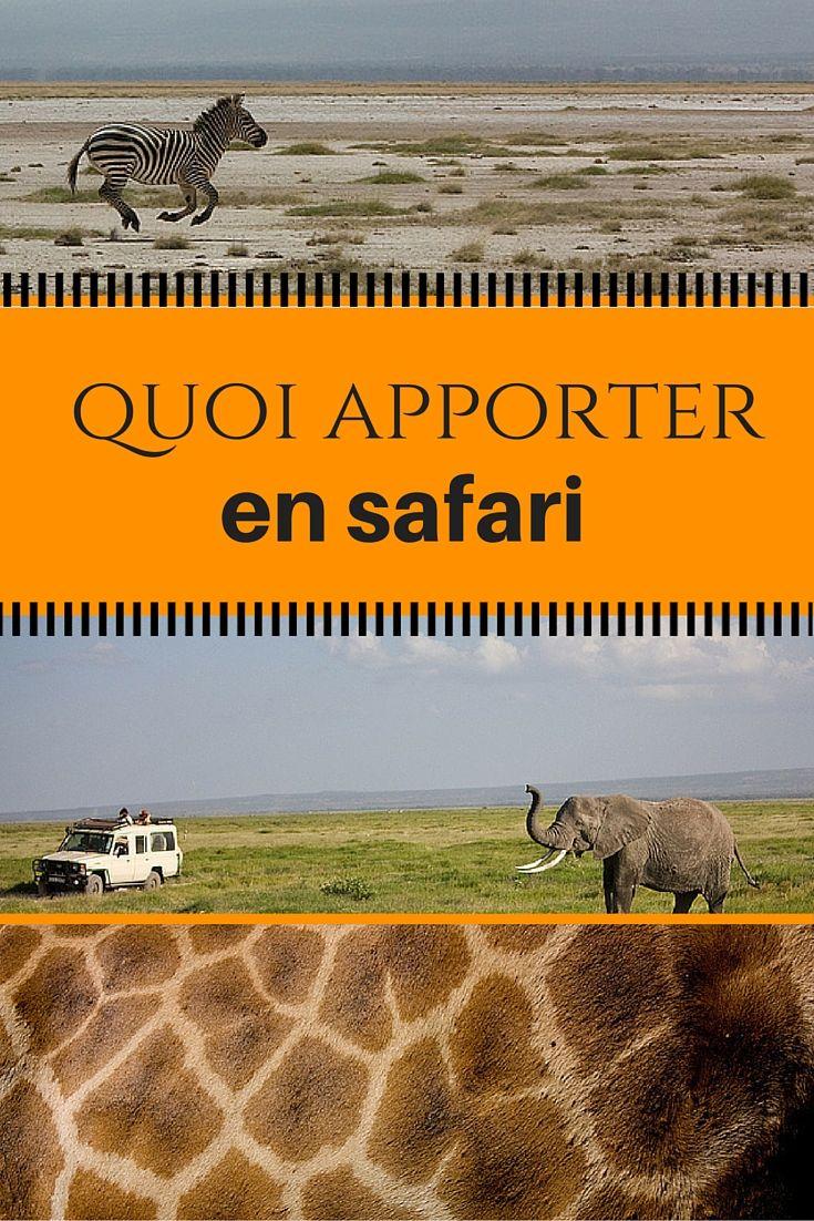 Quoi mettre dans vos valises lors de votre périple à la rencontre des Big Five! Voici ce que j'ai mis dans mes bagages lors de mon voyage au Kenya et en Tanzanie.