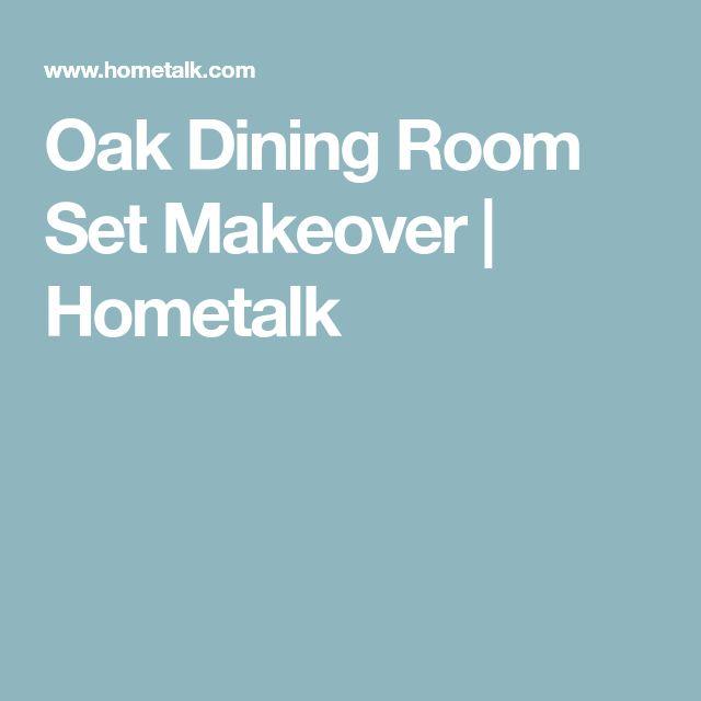 Oak Dining Room Set Makeover | Hometalk