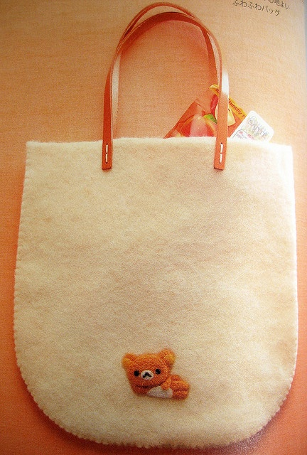 felted bag with cute little bear