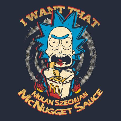 I want that Mulan Szechuan McNugget Sauce, Morty! http://www.feistees.com/i-want-that-mulan-szechuan-mcnugget-sauce-morty-t-shirt/ This Rick and Morty shirt lets everyone know you want it to. #rickandmorty