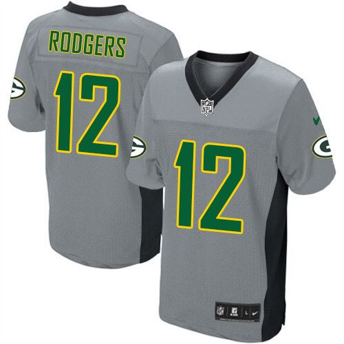 4483b456256a8 ... Youth Nike Green Bay Packers 12 Aaron Rodgers Game Grey Shadow Jersey  59.99 Womens ...