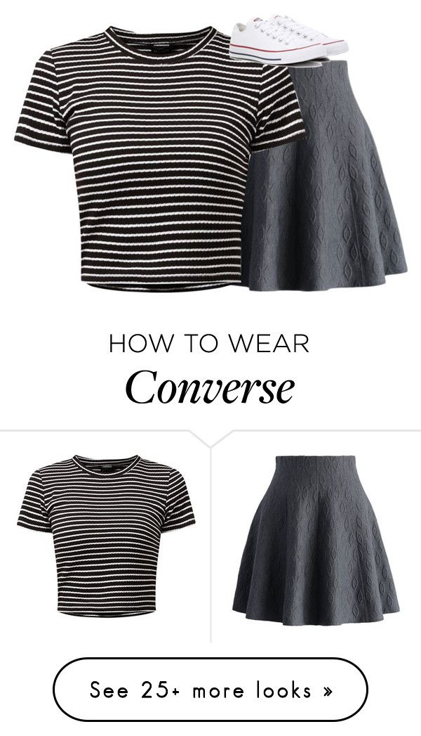 """""""Untitled #2781"""" by laurenatria11 on Polyvore featuring Chicwish and Converse"""