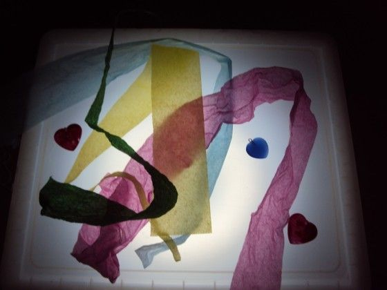 Easy, affordable DIY light box.  View early education resources at www.thefamilyconservancy.org  ~Shari at TFC