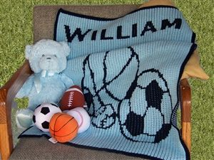 Personalized Sports Fan Blanket -  http://www.gotobaby.com/ – Personalized beautiful, soft sports fan blankets can make the most unique gift ever for your new born baby.