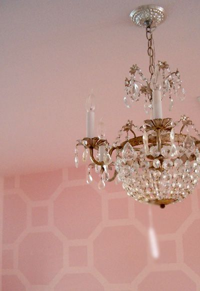 No room is complete without a chandelier... not even the downstairs toilet