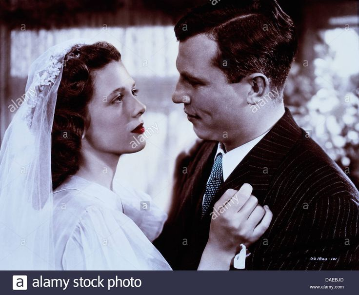 Cathy O'Donnell and Harold Russell, On-Set of the Film, The Best Years of our Lives, 1946 Stock Photo