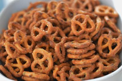 Where else but Pinterest can you find such goodies as Buffalo Pretzels?  This recipe was adapted from the blog  A Taste of the Best , and t...
