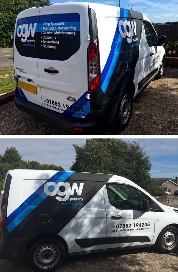 Partial vinyl wrap to Citroen Van printed and fitted by The Sussex Sign Company