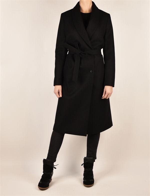 Neil wool coat, black - Jackie