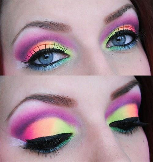 neon rave makeup for Electric Run