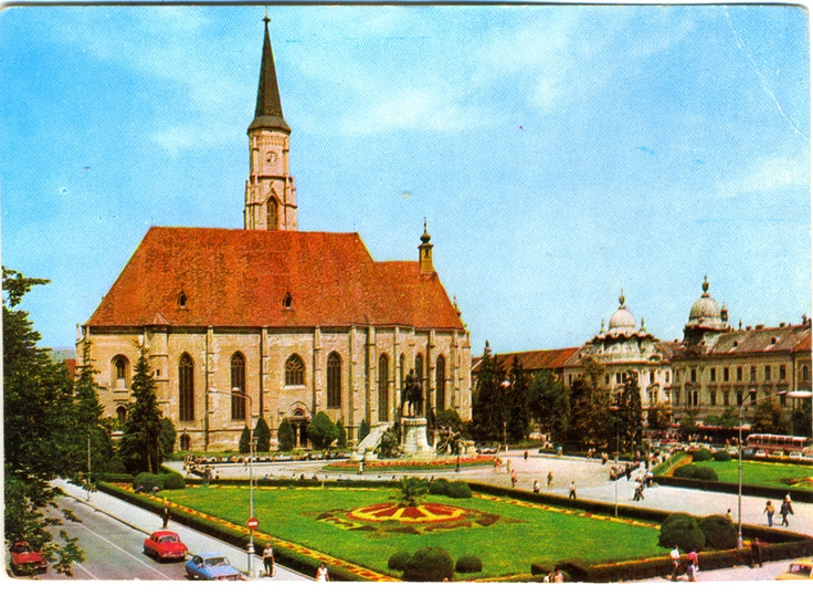 postcard, Kolozsvár (Cluj-Napoca) in the 1980s