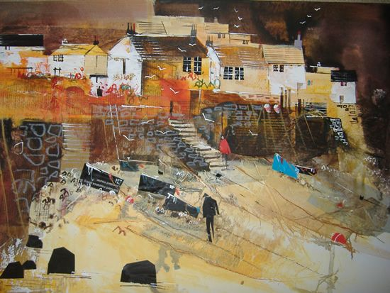 Heading Home, Cadgwith (Cornwall) - Painting of Cadgwith Fishing Village by Surrey Artist Nagib Karsan (Cranleigh Art Group, Dorking Art Group & Guildford Art Group) - Painting Commissions Invited