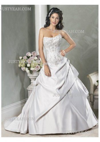 Hot sell beach custom made Strapless Wedding Dresses 2016