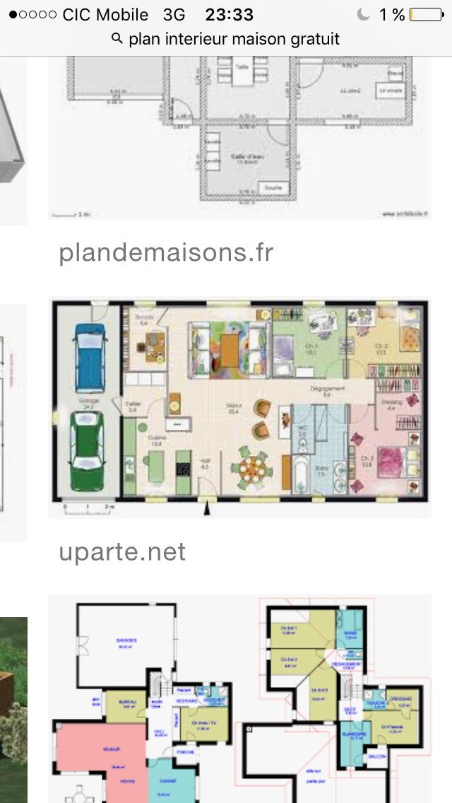 149 best Maisons images on Pinterest Home plans, Cottage floor