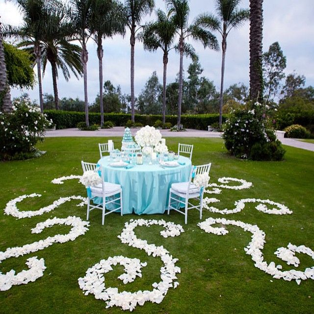 "A ""Tiffany Blue"" wedding at @aviararesort."