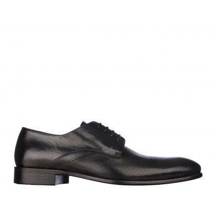 Pantofi Mario Ferretti negri, din piele naturala