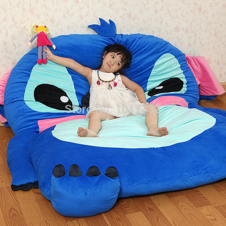 Stitch cartoon mattress tatami oversized beanbag double totoro mattress sleeping bag pad soft bed feet care protector