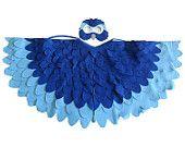 Enfants oiseau Costume, ara bleu Arara perroquet ailes et masque enfant habillage Toy, Rio, filles et garçons, enfants en bas âge