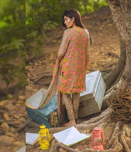 Mina Hasan Embroidered Chiffon Suits Collection 2016 Volume-2 MH_10