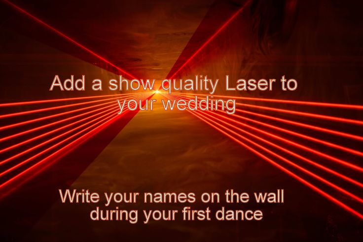 A quality laser is a stunning effect that always wows guests - just make sure that it is a show quality laser with fast scanners for smooth beams and not a cheap laser that can be jerky and annoy guests - DJ Martin Lake