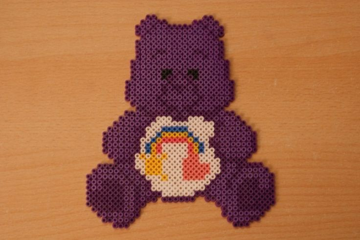 Care bears hama perler by coup-mouss