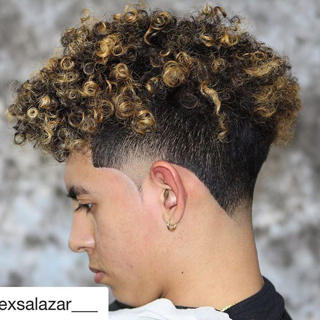 43+ Charming Style Mens Taper Haircut Curly Hair
