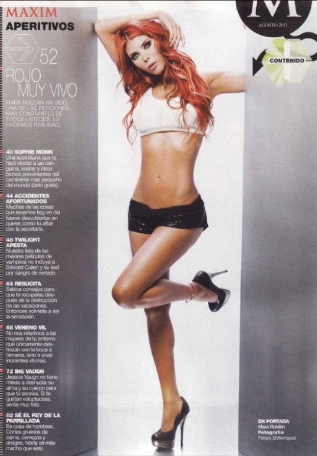 Yo en la revista #Maxim