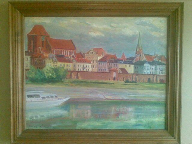 Toruń Panorama - akryl na płótnie