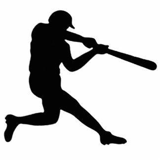Baseball Player Silhouette Photosculpture Photo Cut Out