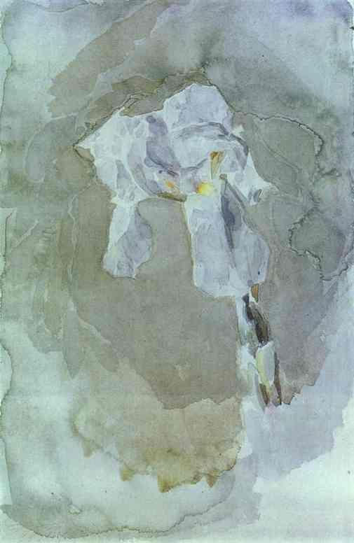 White Iris Painting by Mikhail Vrubel... Details on http://en.wahooart.com/A55A04/w.nsf/OPRA/BRUE-8CAC6Q