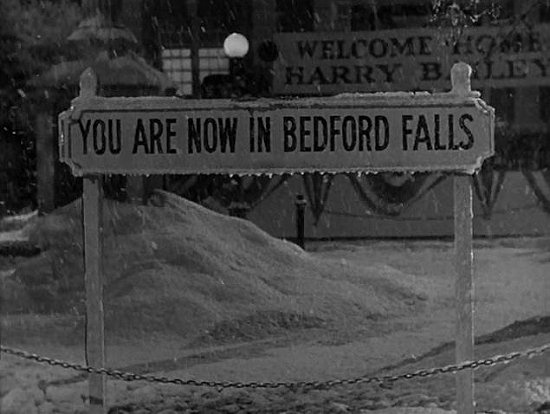 """It's A Wonderful Life--I think of this every time I come home--except, """"You are now in Bedford County""""--haha"""
