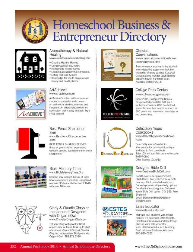 64 best directories images on pinterest homeschool homeschool business and entrepreneur directory the old schoolhouse magazine 2014 annual print book page fandeluxe Image collections