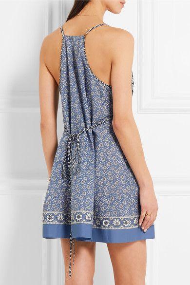 Chloé   Printed cotton-voile mini dress   NET-A-PORTER.COM