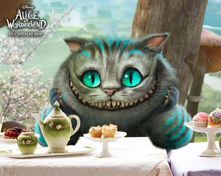 Este es el gat de Alicia en el pais de les  meravelles, nomenat gat Cheshire.