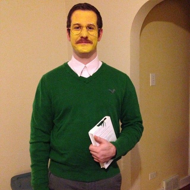 ned flanders from the simpsons costume halloween costume with glasses - Simpson Halloween Costume
